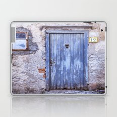Old Blue Italian Door Laptop & iPad Skin