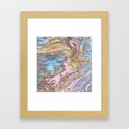 Woody Pink Framed Art Print