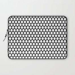 Black and white honeycomb pattern Laptop Sleeve