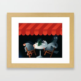 Feed the birds Framed Art Print