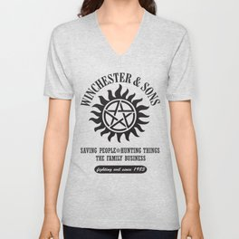 SUPERNATURAL WINCHESTER AND SONS Unisex V-Neck