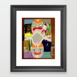 Highs and Lows Framed Art Print