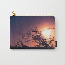 Catching the Moment (Coral Orange Sunset, Dark Violet sky) Carry-All Pouch