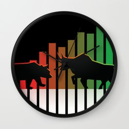 Bear VS Bull Stock Exchange Money Profit Shareholder Share Gift Wall Clock