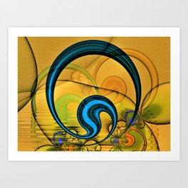 Golden Textured Circlet Art Print