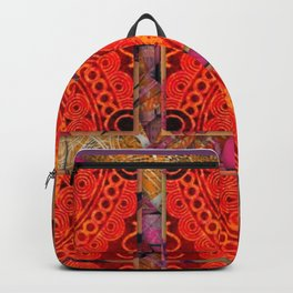 no. 196 orange pattern Backpack