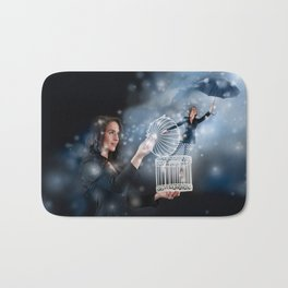 Letting Go and Finding Inner Freedom Bath Mat
