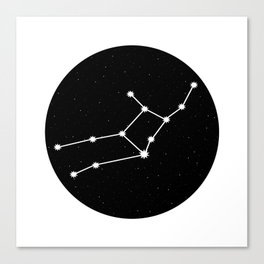Virgo Star Sign Night Sky Circle Canvas Print