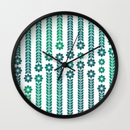 Forrest Retro Flowers Wall Clock