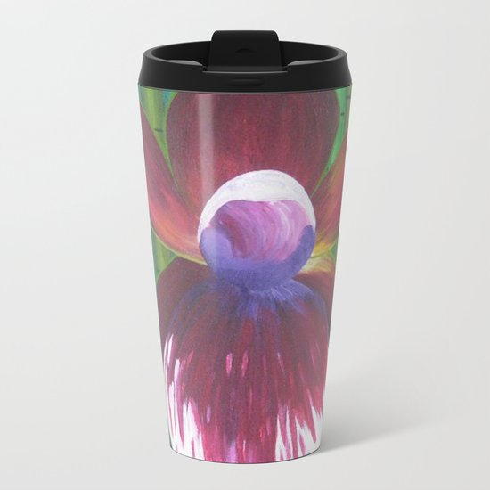 The Many Faces of Orchids Metal Travel Mug