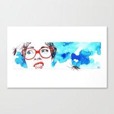 Cara de asco Canvas Print