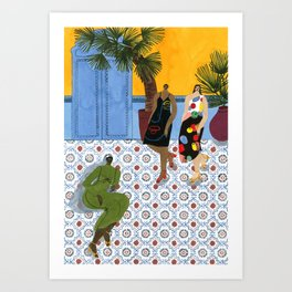 Mara Hoffman Fall 17 Art Print