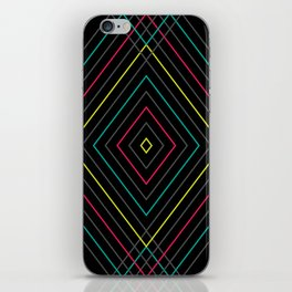 Neon Diamond Pattern iPhone Skin