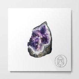 {Silicon dioxide} 1/3 Metal Print