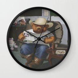Redneck Teddy Wall Clock
