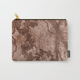 Snail trails on brown bark Carry-All Pouch