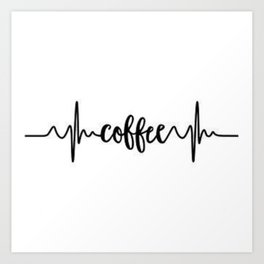 Coffee Beat Art Print