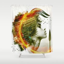 Afro Warrior Shower Curtain