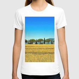 Cypress Trees along the road, Tuscany, Italy T-shirt