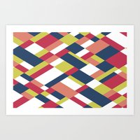 matisse Art Prints featuring Map Matisse by Project M