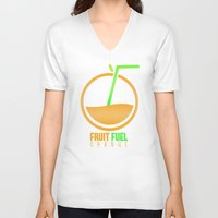 pocket fuel V-neck T-shirts featuring Fruit Fuel. by Novus.