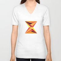 mosaic V-neck T-shirts featuring mosaic by kartalpaf