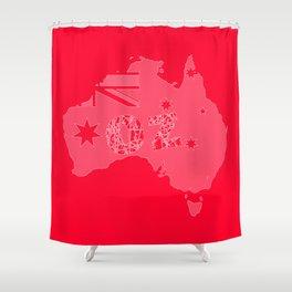OZ Red Backround Shower Curtain