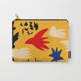 Yellow day abstract african art Carry-All Pouch