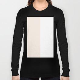White and Linen Vertical Halves Long Sleeve T-shirt