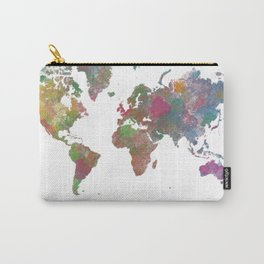 World Map - Watercolor 4 Carry-All Pouch