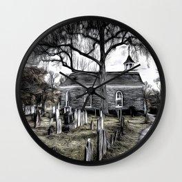 Sleepy Hollow Church Art Wall Clock