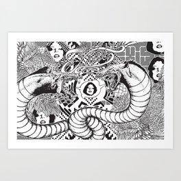 Beasting Delux Mode Art Print