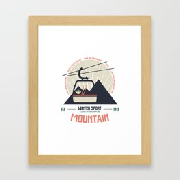 Mountain winter sport emblem Framed Art Print