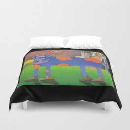 Udderly Frank - Funny Cow Art Duvet Cover