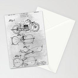 Motorcycle saddle Stationery Cards