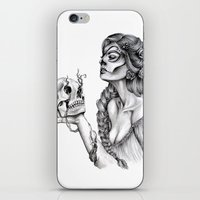 sugar skull iPhone & iPod Skins featuring Sugar Skull by April Alayne