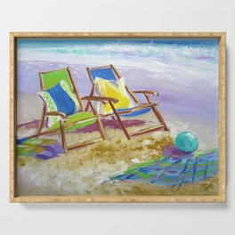 Beach Chairs Serving Tray