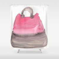 tote bag Shower Curtains featuring Tote 3 by ©valourine