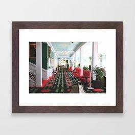 inside the Grand Hotel Framed Art Print