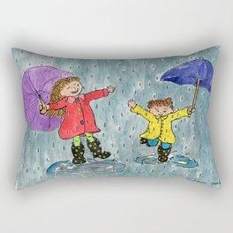 Puddle Jumping Kids Rectangular Pillow