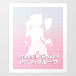 Anime Groove~ Art Print