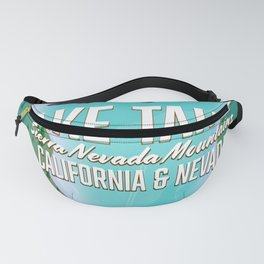 Lake Tahoe map Fanny Pack