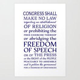 Defend Your Freedom of Speech Art Print