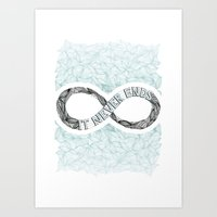 infinity Art Prints featuring Infinity by Barlena