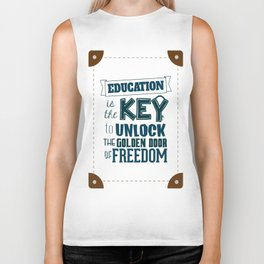 Lab No. 4 Education Is the Key George Washington Carver Inspirationa Quote Biker Tank