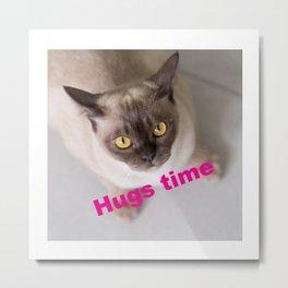 Hug Time with Charley Metal Print