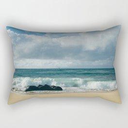Hookipa Beach Pacific Ocean Waves Maui Hawaii Rectangular Pillow