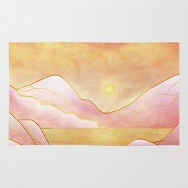 landscape in pastels Rug