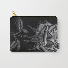 Silver Rose Carry-All Pouch