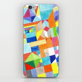 Playful Colorful Architectural Pattern iPhone Skin
